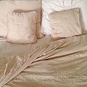 Для дома и интерьера ручной работы. Ярмарка Мастеров - ручная работа Комплект постельного белья из шёлкового сатина. 100 % хлопок. Handmade.