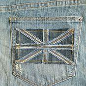 Материалы для творчества ручной работы. Ярмарка Мастеров - ручная работа Флаг аппликация джинсовый. Handmade.