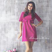 Одежда ручной работы. Ярмарка Мастеров - ручная работа Милое розовое платье с бантиками. Handmade.