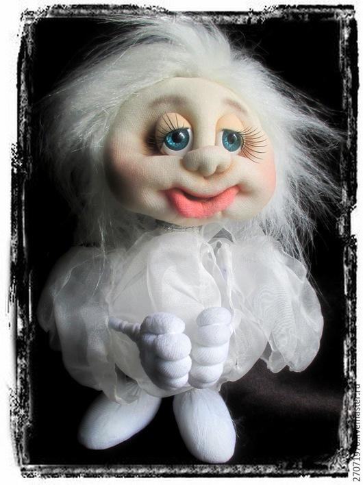 Сказочные персонажи ручной работы. Ярмарка Мастеров - ручная работа. Купить интерьерная кукла - сувенир Ангелок. Handmade. Белый, подарок