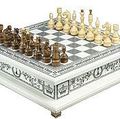 Сувениры и подарки ручной работы. Ярмарка Мастеров - ручная работа Эксклюзивный набор 3 в 1 (шахматы, нарды, шашки). Handmade.
