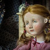 Куклы и игрушки ручной работы. Ярмарка Мастеров - ручная работа Рыжая в розовом. Handmade.