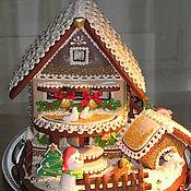 Сувениры и подарки ручной работы. Ярмарка Мастеров - ручная работа Новогодний пряничный домик. Handmade.