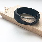 Rings handmade. Livemaster - original item Ring of wood and resin. Stylish black ring. Handmade.