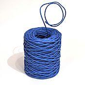 Материалы для творчества ручной работы. Ярмарка Мастеров - ручная работа Проволока в бумажной обмотке синяя. Handmade.
