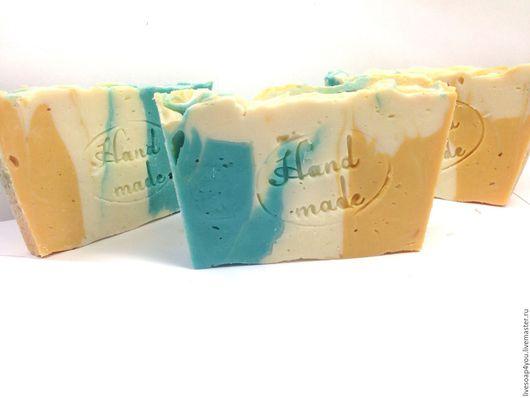 """Мыло ручной работы. Ярмарка Мастеров - ручная работа. Купить """"Утренние росы"""" натуральное мыло ручной работы с шелком. Handmade."""