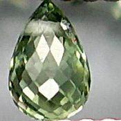 Материалы для творчества handmade. Livemaster - original item SAPPHIRE-bead-briolette 0,12 CT. Handmade.