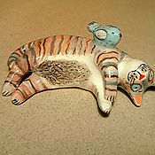 Для дома и интерьера handmade. Livemaster - original item Ceramic cat . The theme: