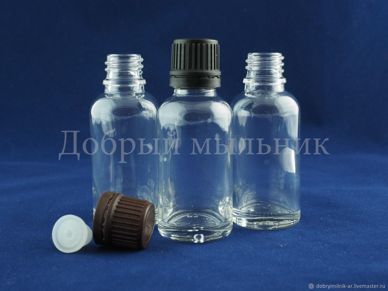 Флакон 30 мл стекло прозрачный, Флаконы, Москва,  Фото №1