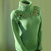 Одежда handmade. Livemaster - original item Green sweater. Handmade.