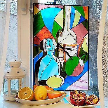 """Для дома и интерьера ручной работы. Ярмарка Мастеров - ручная работа Часы: """"Натюрморт"""". Handmade."""