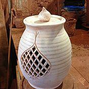 Для дома и интерьера ручной работы. Ярмарка Мастеров - ручная работа горшки для хранения лука и чеснока. Handmade.