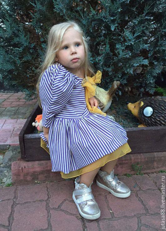 """Одежда для девочек, ручной работы. Ярмарка Мастеров - ручная работа. Купить Платье """"Алиса в сиреневую полосочку. Handmade. Комбинированный"""