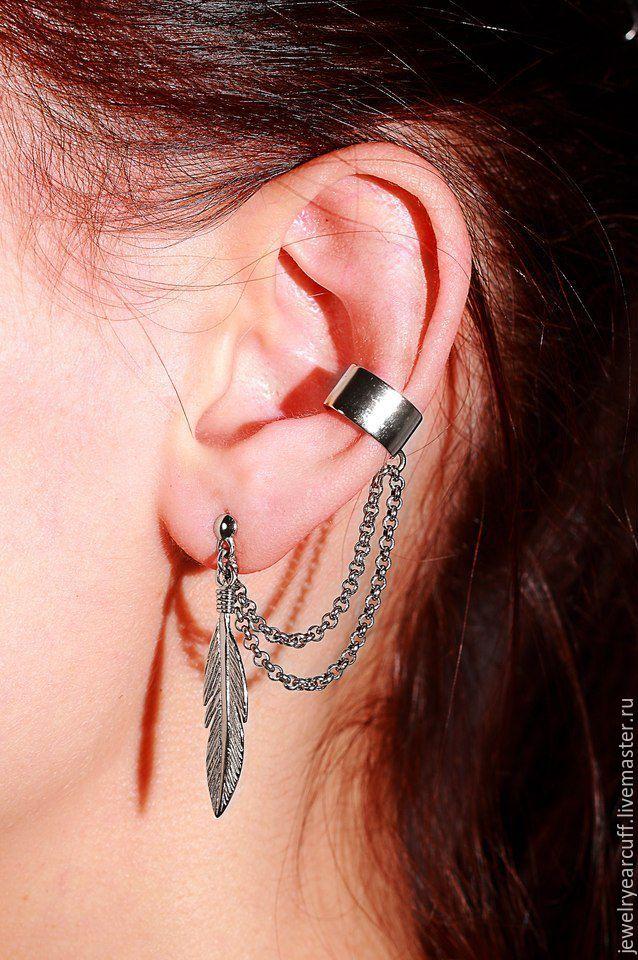 Ярмарка мастеров Ювелирные каффы из серебра 925 пробы или Ear cuff от  Stepan Vasiliev Jewelry. 3428d642814f2