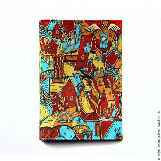 """Обложки ручной работы. Ярмарка Мастеров - ручная работа. Купить Обложка для паспорта """"Алфавит Бирюзовый"""". Handmade. Бирюзовый, обложка"""