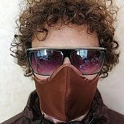 Аксессуары handmade. Livemaster - original item Protective mask: Protective mask brown and black from viruses unisex. Handmade.