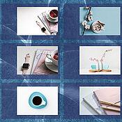 Дизайн ручной работы. Ярмарка Мастеров - ручная работа Дизайн: Шаблоны для Instagram Blue. Handmade.