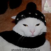 Для домашних животных, ручной работы. Ярмарка Мастеров - ручная работа вязаные шапки. Handmade.
