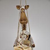 Куклы и игрушки ручной работы. Ярмарка Мастеров - ручная работа Жирафа Жозефина шоколадная. Handmade.