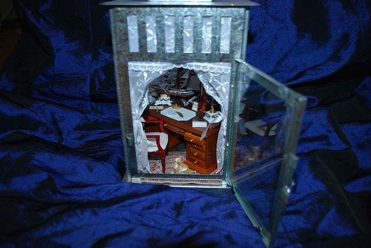 """Миниатюра ручной работы. Ярмарка Мастеров - ручная работа. Купить Миниатюра """"Кабинет"""". Handmade. Кукольная миниатюра, дерево, кружево"""