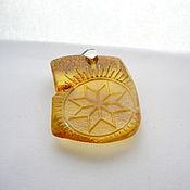 Русский стиль handmade. Livemaster - original item Alatyr natural amber R-428. Handmade.