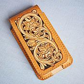Сумки и аксессуары handmade. Livemaster - original item Case holster for phone, vertical. Handmade.