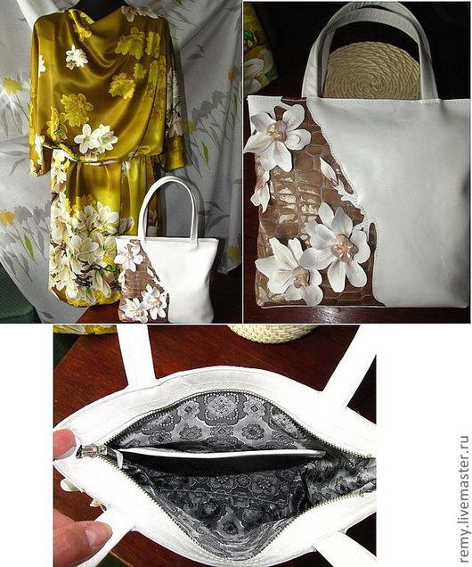 """Женские сумки ручной работы. Ярмарка Мастеров - ручная работа. Купить сумка """" Миндаль цветёт"""". Handmade. Белый"""