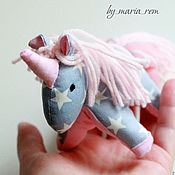 Stuffed Toys handmade. Livemaster - original item Textile unicorns. Handmade.