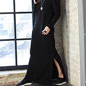 Одежда handmade. Livemaster - original item Maxi dress Black Dune. Handmade.