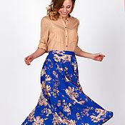 Одежда handmade. Livemaster - original item Skirt made of cotton with floral print. Handmade.