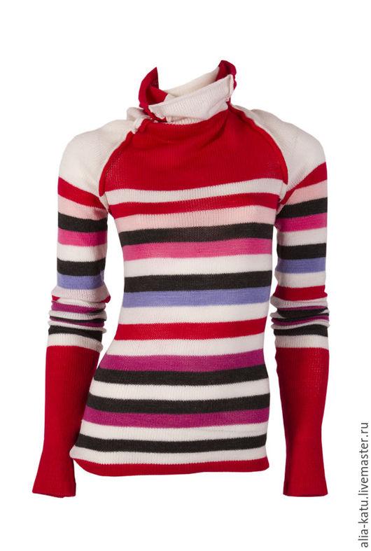 """Кофты и свитера ручной работы. Ярмарка Мастеров - ручная работа. Купить Свитер """"Полоска"""". Handmade. Комбинированный, в полоску, полосатый свитер"""