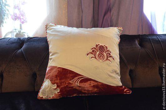 Текстиль, ковры ручной работы. Ярмарка Мастеров - ручная работа. Купить Подушка. Handmade. Подушка декоративная