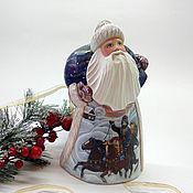 """Подарки к праздникам handmade. Livemaster - original item Дед Мороз резной(""""Тройка""""). Handmade."""