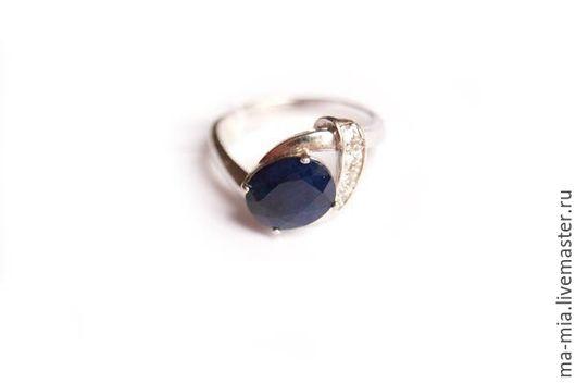 Кольца ручной работы. Ярмарка Мастеров - ручная работа. Купить кольцо Сапфир 2.0. Handmade. Синий, сапфир натуральный
