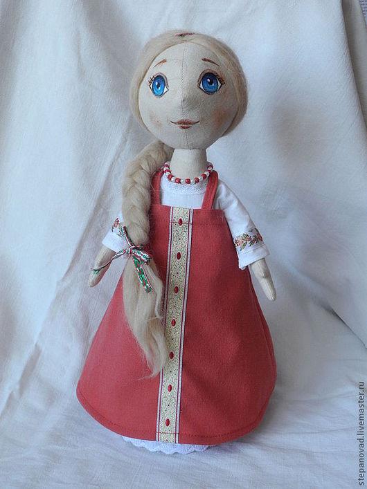 Коллекционные куклы ручной работы. Ярмарка Мастеров - ручная работа. Купить интерьерная кукла Мария. Handmade. Ярко-красный