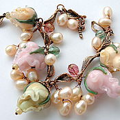 Украшения handmade. Livemaster - original item Bracelet Tenderness in the technique of lampwork.. Handmade.