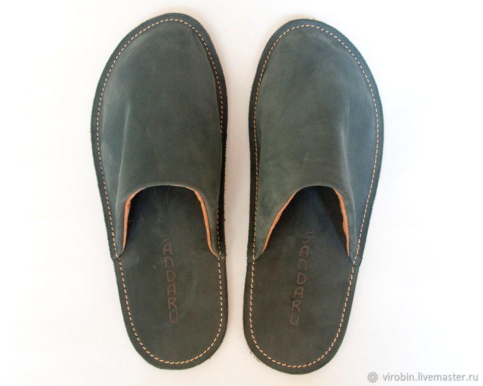 Men's home Slippers Kyoto grey, Slippers, Mytishchi,  Фото №1