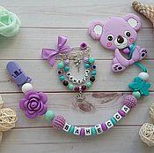 Мягкие игрушки ручной работы. Ярмарка Мастеров - ручная работа Именные комплекты для малышей. Handmade.