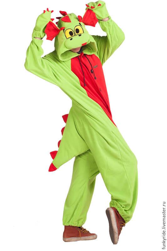 Костюм кигуруми Арбузный Дракон FUNKY WOTERMELON DRAGON KIGU, Костюмы, Челябинск, Фото №1