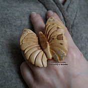Украшения handmade. Livemaster - original item Ring with cubic Zirconia Butterfly. Handmade.