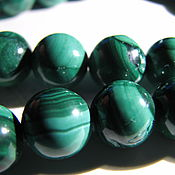 Материалы для творчества handmade. Livemaster - original item Natural malachite beads, African. Zaire, 10 mm light. Handmade.
