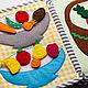 Развивающие игрушки ручной работы. Заказать Овощи и фрукты в лукошке (развивающая книжка). Binker. Ярмарка Мастеров. Развитие мелкой моторики