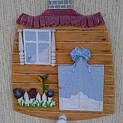 """Картины и панно ручной работы. Ярмарка Мастеров - ручная работа """"Дверь к счастью! Маришкина избушка.""""  - панно миниатюра. Handmade."""