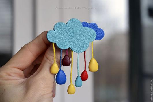 """Броши ручной работы. Ярмарка Мастеров - ручная работа. Купить Брошь """"Разноцветный дождь"""". Брошка в подарок для девушки, девочки. Handmade."""