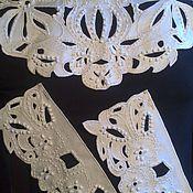 """Аксессуары ручной работы. Ярмарка Мастеров - ручная работа комплект """"шикарный в белых тонах"""". Handmade."""