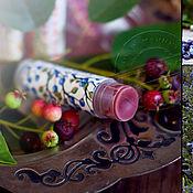 """Косметика ручной работы. Ярмарка Мастеров - ручная работа Бальзам для губ """"Черничная поляна"""". Handmade."""