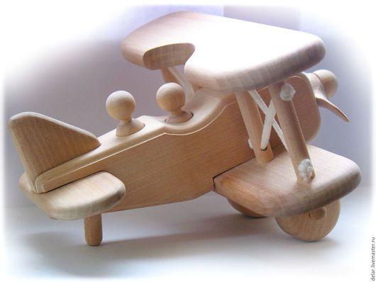 Техника ручной работы. Ярмарка Мастеров - ручная работа. Купить Игрушка деревянная самолёт БИПЛАН. Handmade. Дерево, самолет