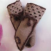 Аксессуары handmade. Livemaster - original item Women`s mittens, half-wool, author`s, a gift to a girl.. Handmade.