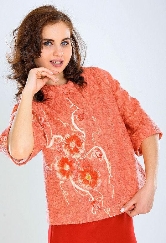 Верхняя одежда ручной работы. Ярмарка Мастеров - ручная работа. Купить ППК 11. Handmade. Цветочный, модное пальто