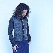 """Одежда ручной работы. Ярмарка Мастеров - ручная работа Жакет """"Джинсовый стиль"""" с глиняными пуговицами. Handmade."""